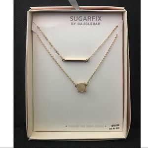 Sugarfix by Baublebar Layered Gold Necklace Set
